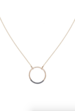 Colleen Mauer Black & Gold Circle Necklace