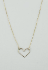 Open Heart Necklace Gold