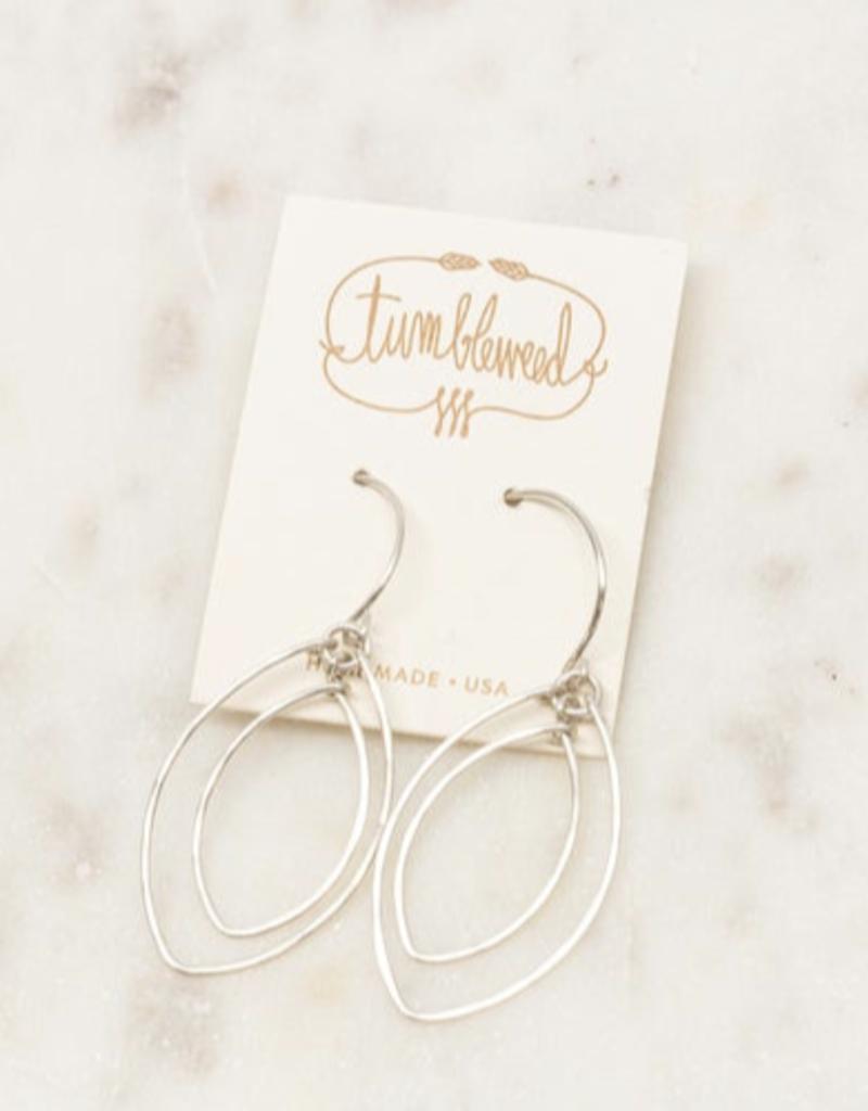 Double Leaf Earrings Gold