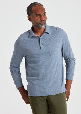 Faherty Luxe Solid Heather Polo
