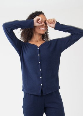 Carve Designs Garner Top- Navy