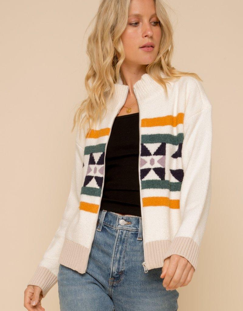 Zip Up Mock Neck Jacket