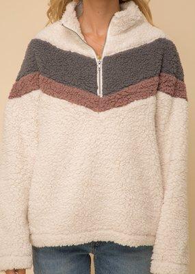 Hem & Thread Sherpa Pullover