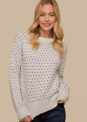 Hem & Thread Heart Knitted Sweater