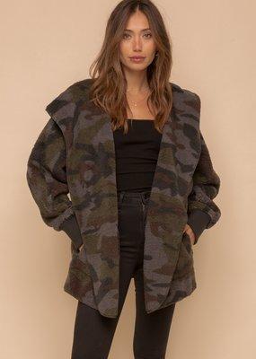 Hem & Thread Camo Fleece Hoody Wrap