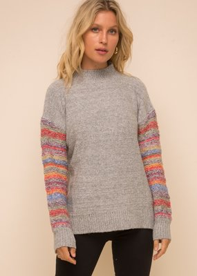 Hem & Thread Colormix Turtleneck Sweater