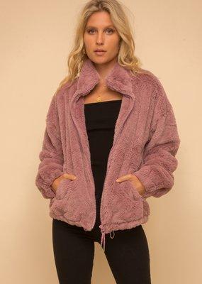 Hem & Thread Lined Faux Fur Oversized Jacket