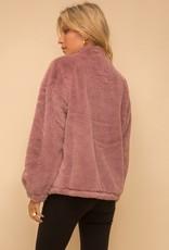 Lined Faux Fur Oversized Jacket