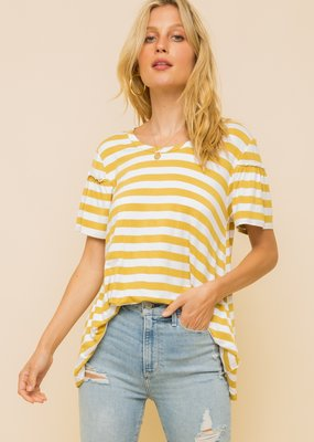 Hem & Thread Round Neck Loose Fit Top
