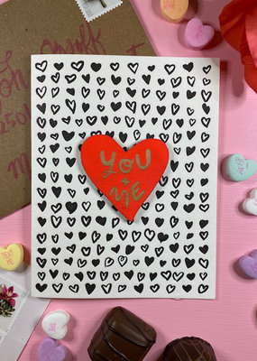 Card With Heart Magnet