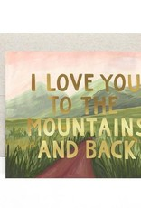 Mountains And Back Card