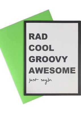 Rad Cool Groovy Card