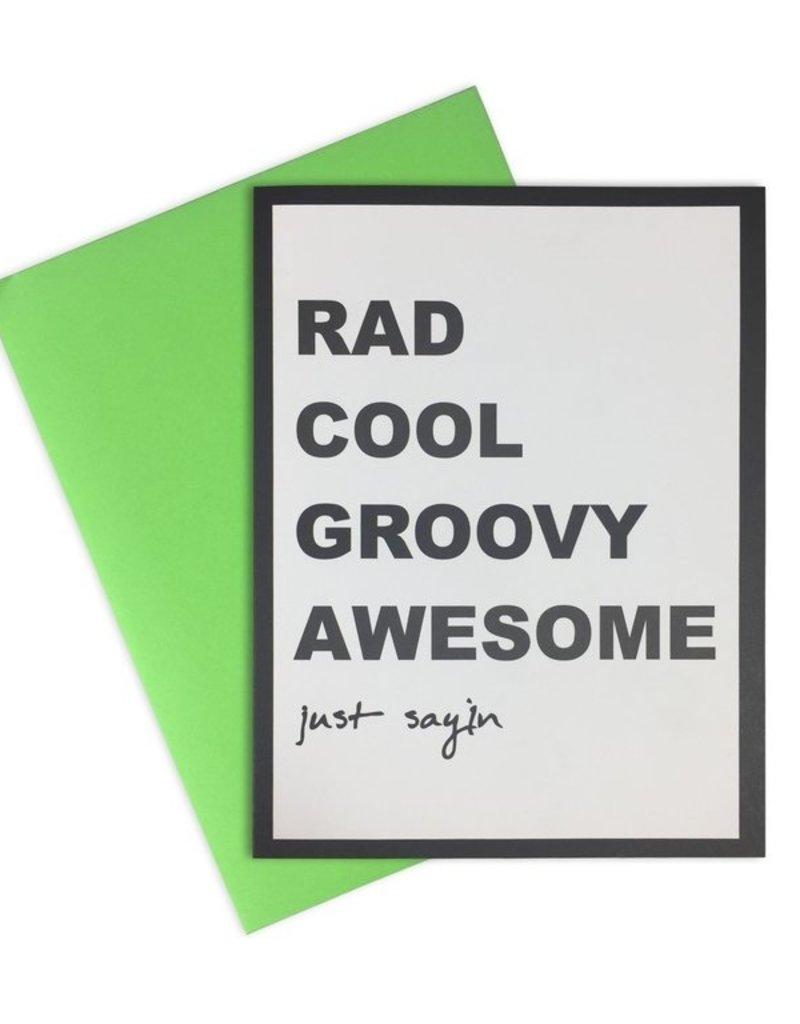 Rad Cool Groovy Card