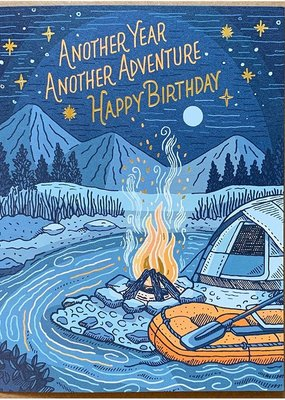 Noteworthy Paper and Press Campfire Birthday card