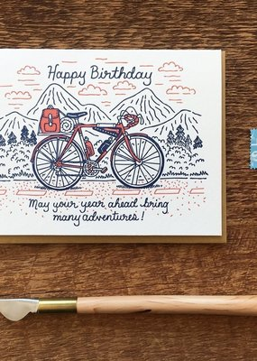 Noteworthy Paper and Press Birthday Bicycle Card