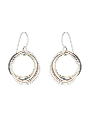 Colleen Mauer Small 4-color Multi Square Earrings