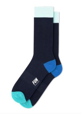 Fun Socks Classic Crew Navy/Green