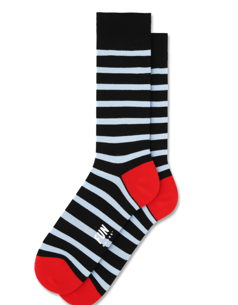 Fun Socks Navy Stripe Dress Crew