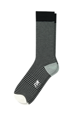 Fun Socks Black Pin Stripe Crew