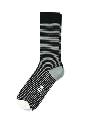 Fun Socks Black Pin Stripe Crew