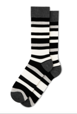 Fun Socks Bold Black Stripe Crew