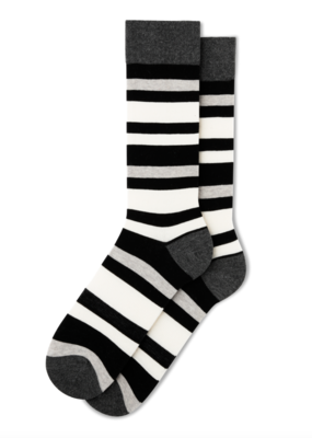 Fun Socks Bold Black Stripe Crew