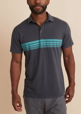Marine Layer Sport Polo Heather Grey
