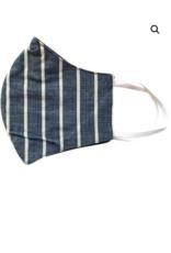 Navy Khaki Stripe Mask