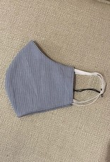 Navy Mini Pin Stripe Mask