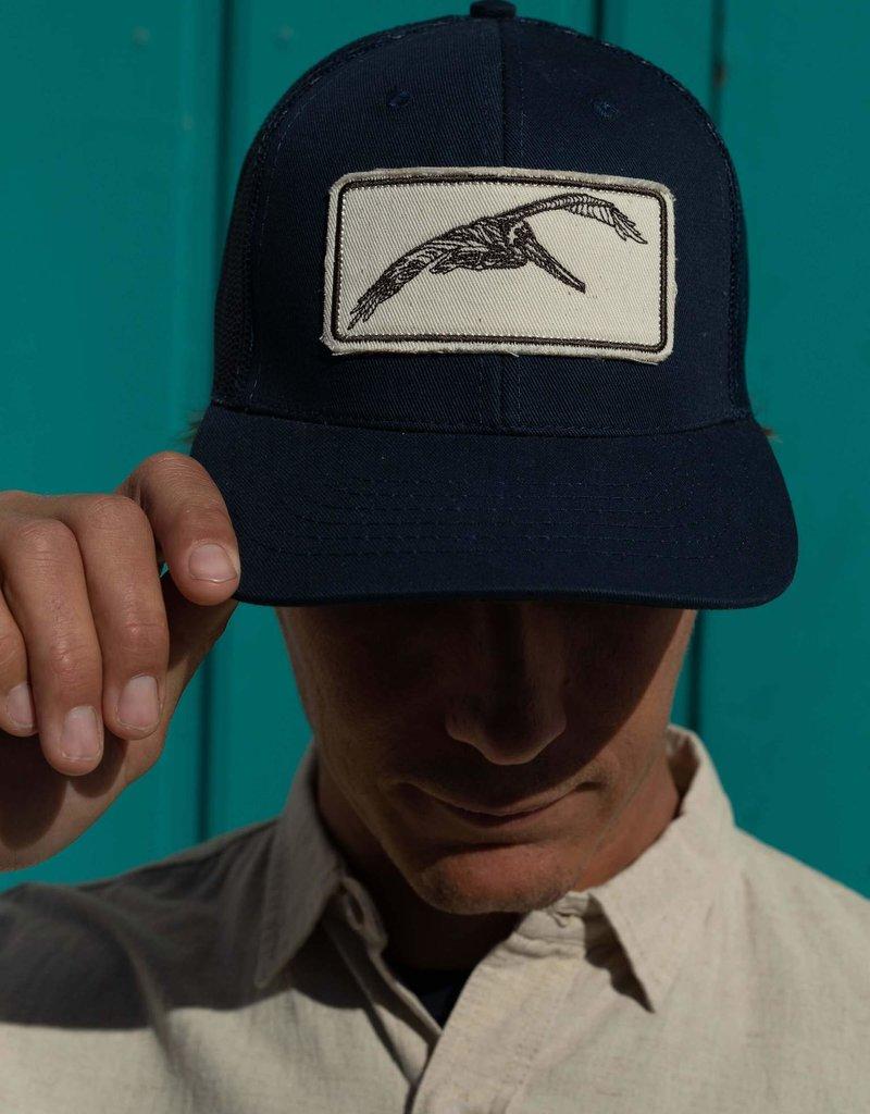 Mollusk Surf Shop Pelican Patch Trucker Hat Navy