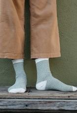 Mollusk Surf Shop Roll-Top Ankle Socks Navy Stripe