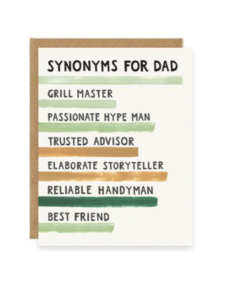 Synonyms For Dad Card