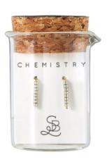 Silver Chemistry Earring