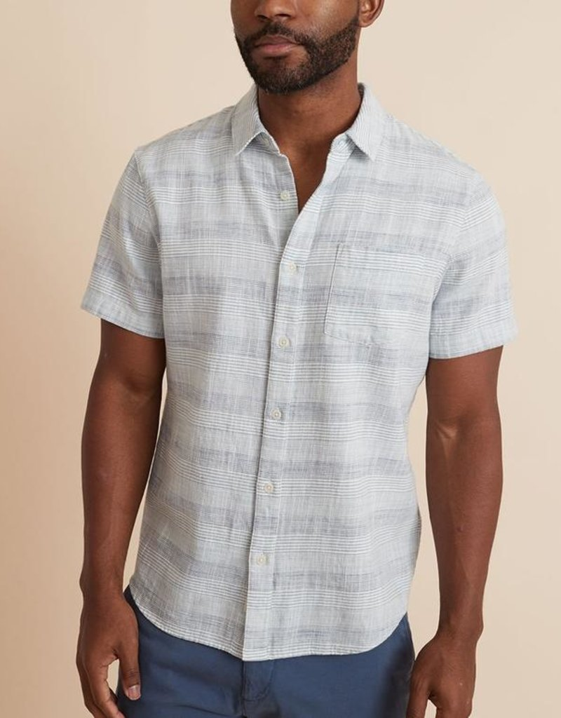 Marine Layer SS Striped Selvage Shirt