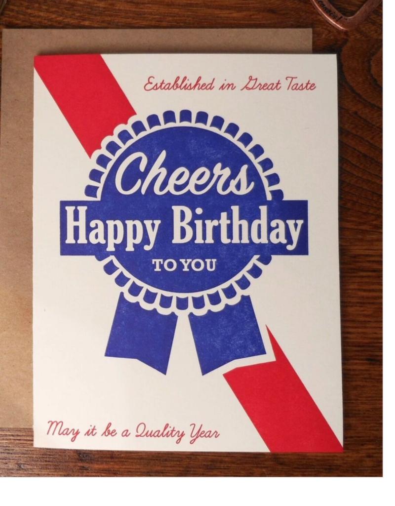 Favorite Design Blue Ribbon Birthday