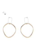 Colleen Mauer Interlocking Rectangle and Square Earrings