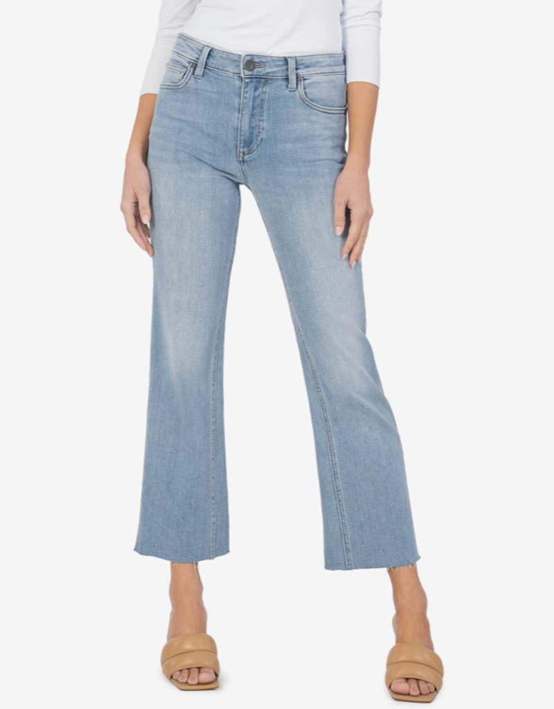 Kut High Rise Kelsey Ankle Flare Jeans