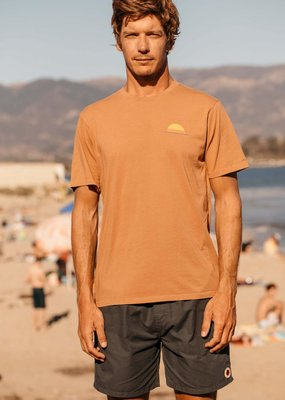 Mollusk Surf Shop M's Realize Tee- Orange Earth