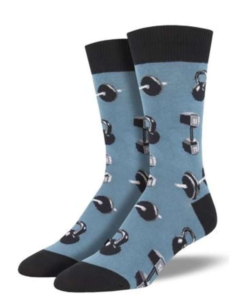 Do You Even Lift Blue Socks