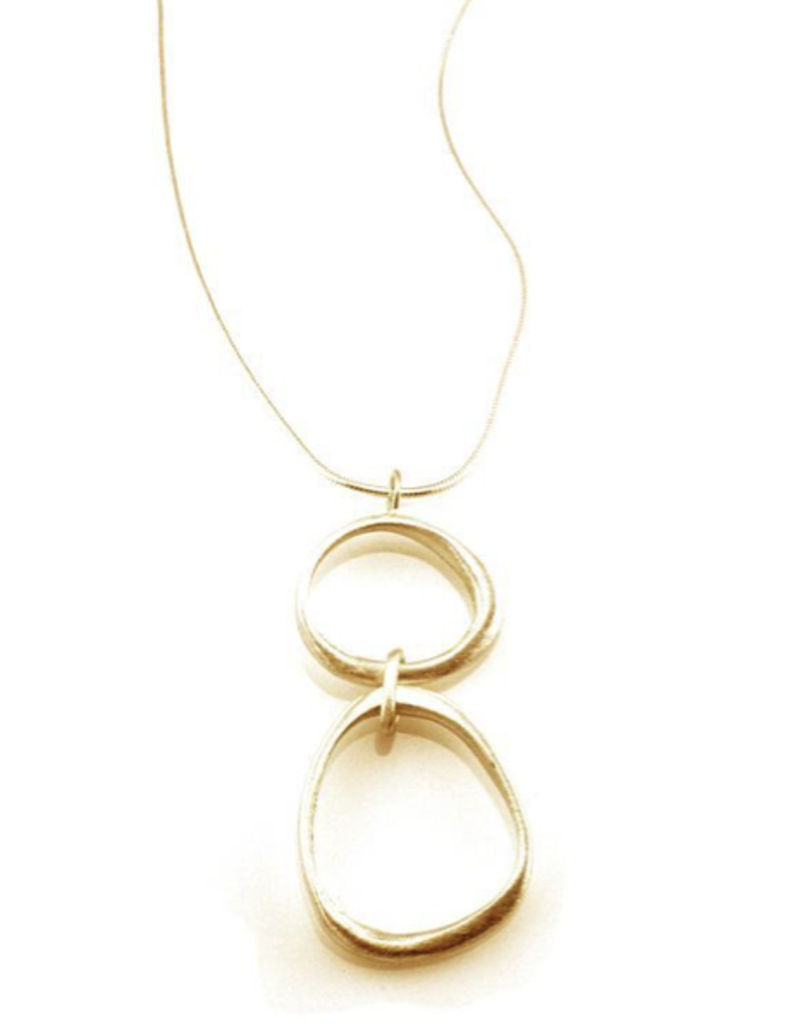 Large and Small Organic Circles Vermeil Necklace