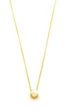 "Philippa Roberts Tiny Circle 16"" Vermeil Necklace"