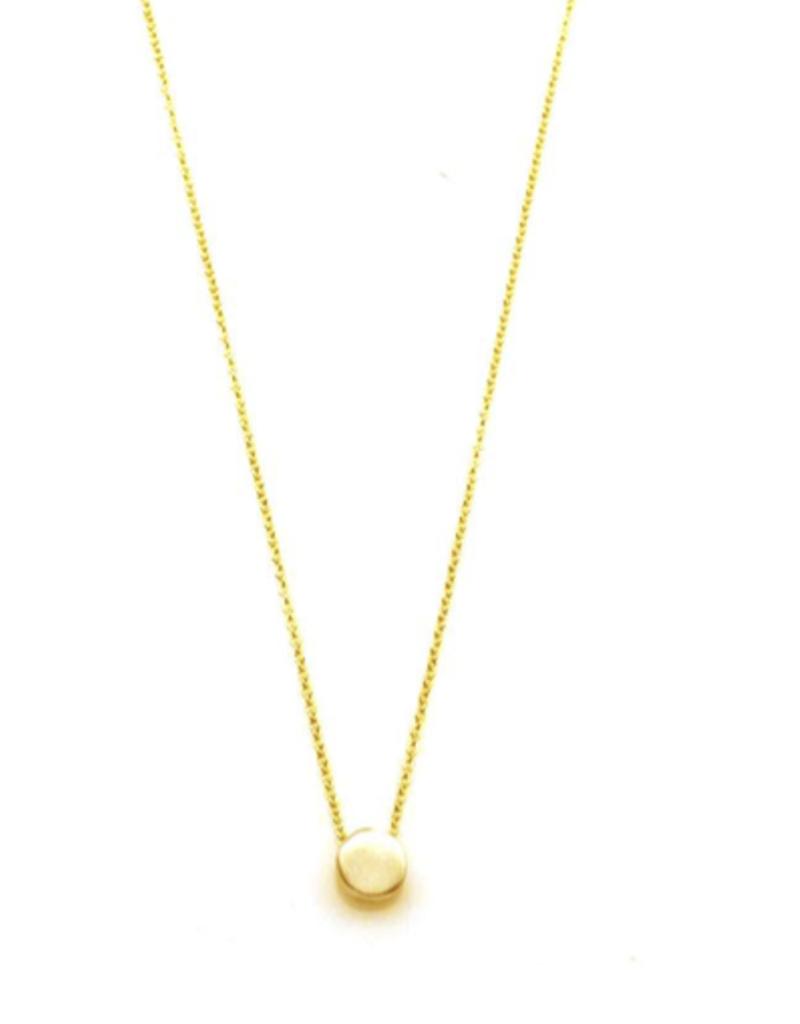"Tiny Circle 16"" Vermeil Necklace"