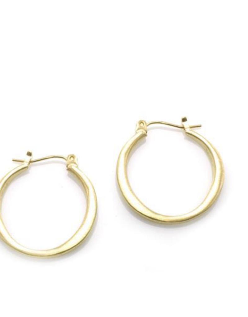 Philippa Roberts Medium Round Hoop Vermeil Earrings