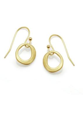 Philippa Roberts Small Circle Vermeil Earrings