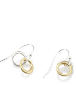 Two Little Circles Mixed Metal Earrings