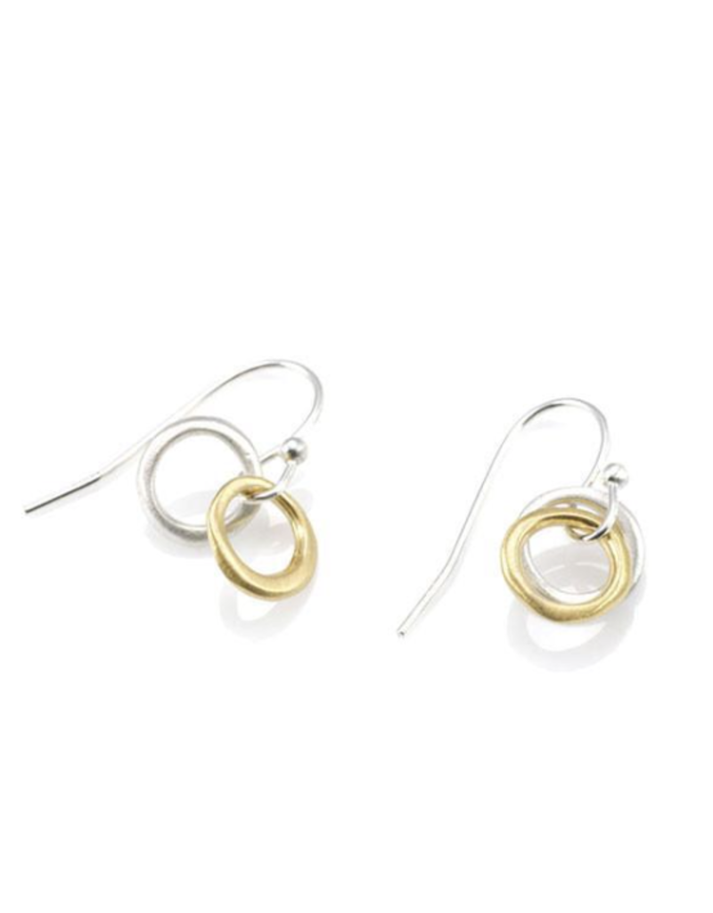 Philippa Roberts Two Little Circles Mixed Metal Earrings