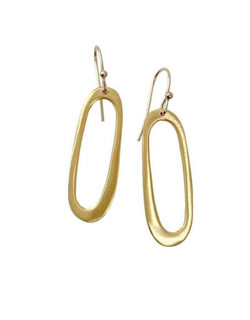 Small Oval Vermeil Earrings