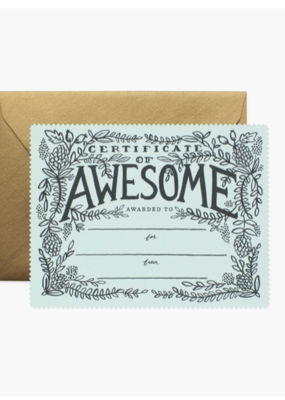 Rifle Paper Co. Certificate of Awesome