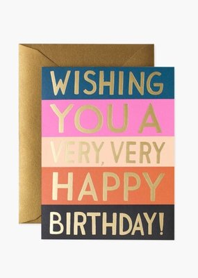 Rifle Paper Co. Color Block Birthday Card