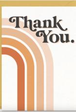 70's Rainbow Thank You Card